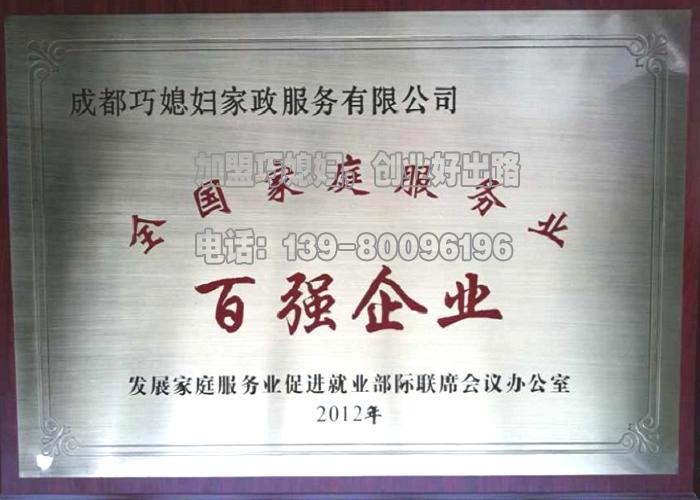 中国家政百强企业